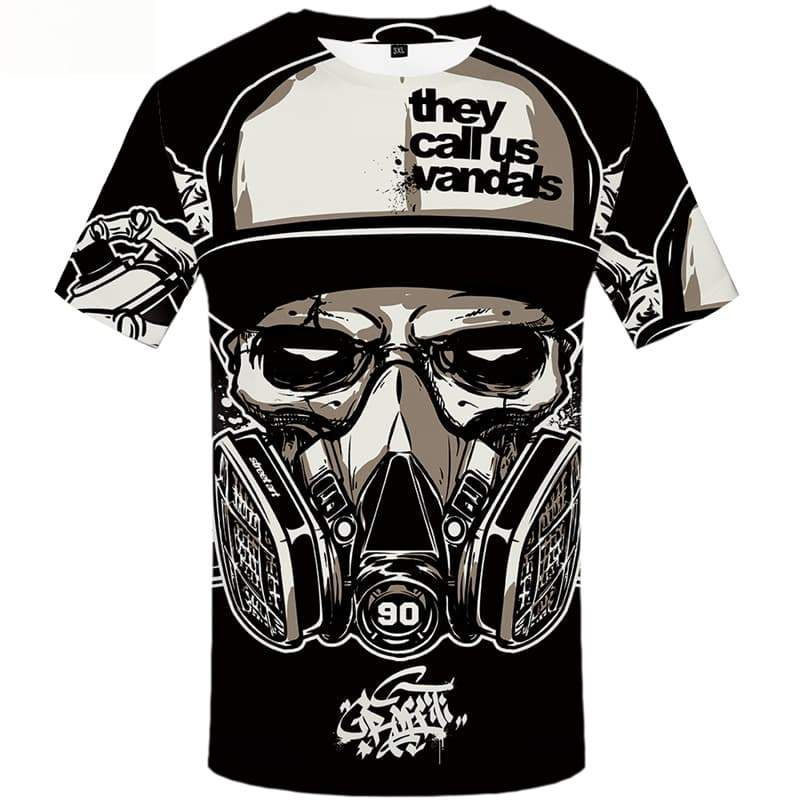 Skull T shirts Men Metal T shirts Funny Military T-shirts 3d Short Sleeve