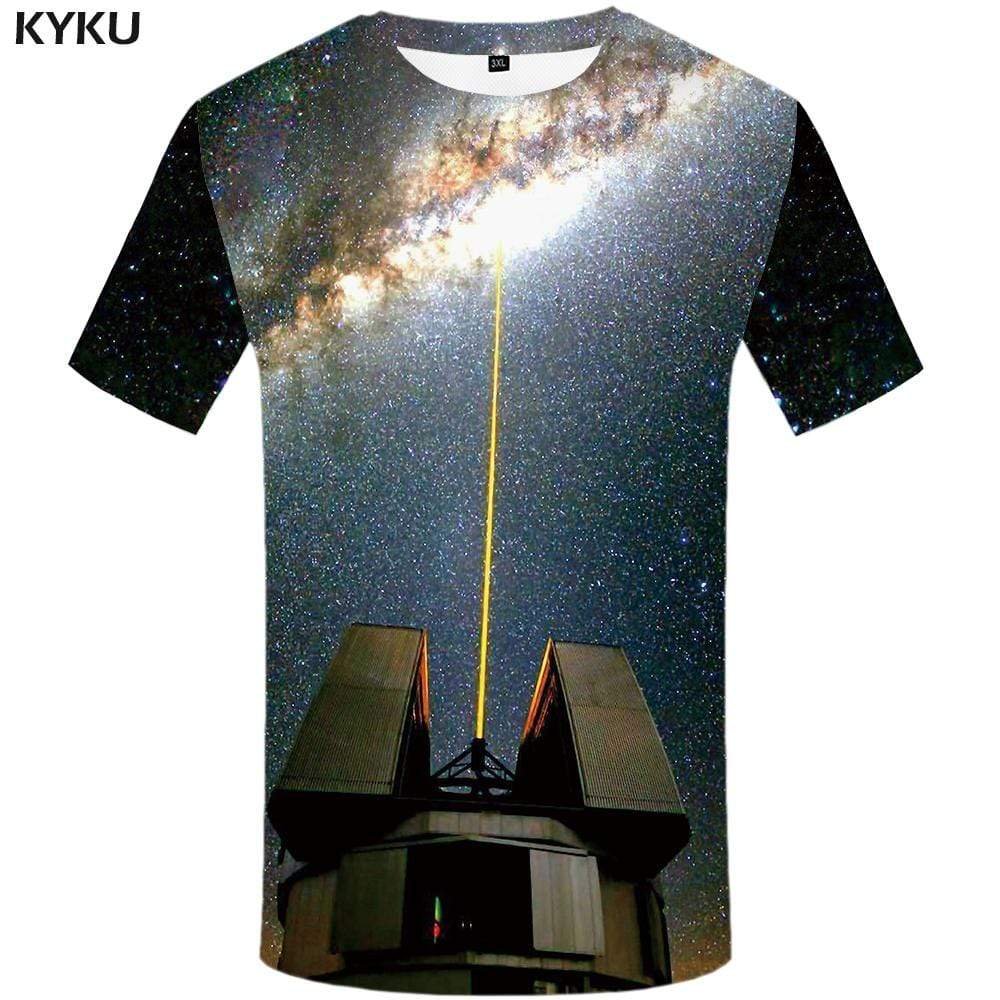 Galaxy Space T-shirts Men Vortex T-shirt 3d Nebula Tshirt Anime Lightning T shirts Funny Mountain Tshirts Print Mens Fashion