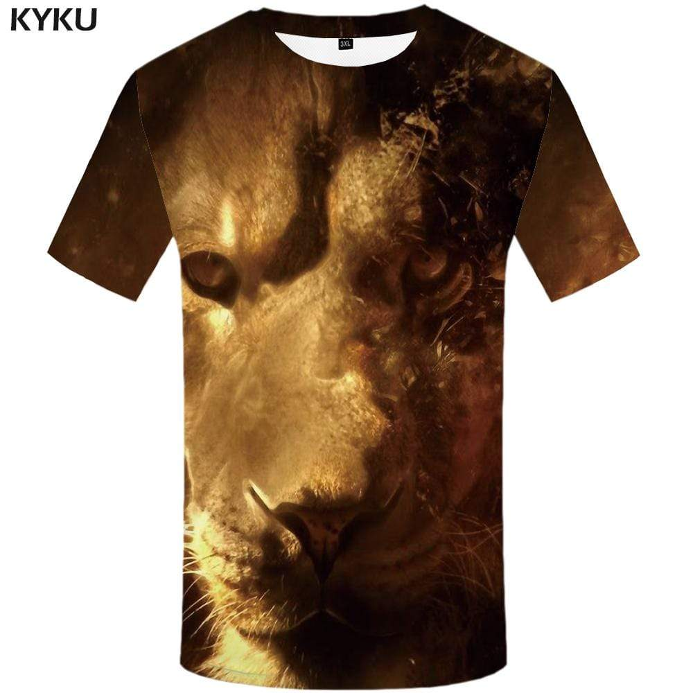 Lion T shirt Men Animal T shirts Funny Galaxy Space T-shirt 3d Cloud Tshirts Print Mountain Tshirt Anime Mens Clothing