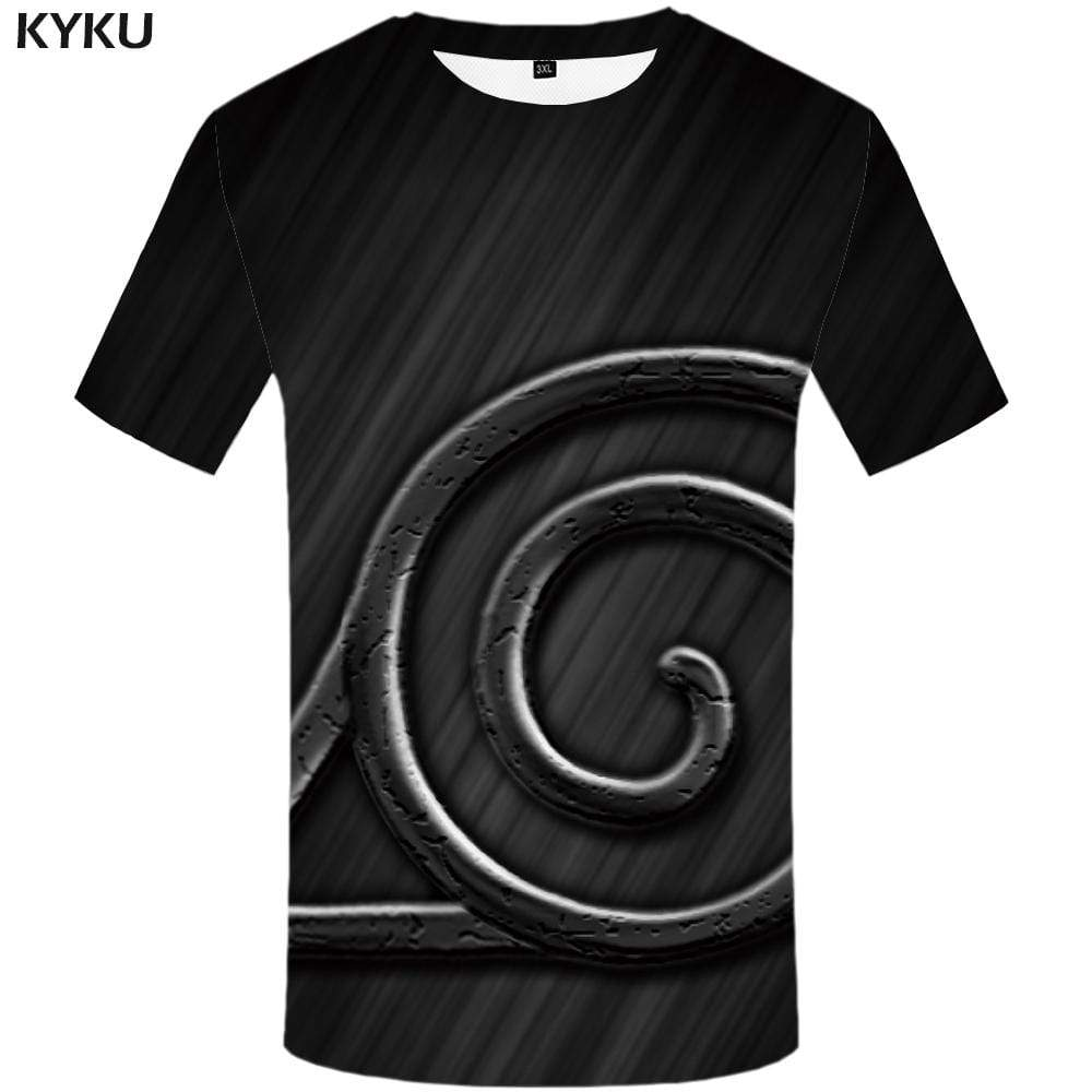 Naruto T shirt Men Black T shirts Funny Harajuku T-shirt 3d Geometric Tshirts Print Tshirt Anime Mens Clothing Casual Unisex