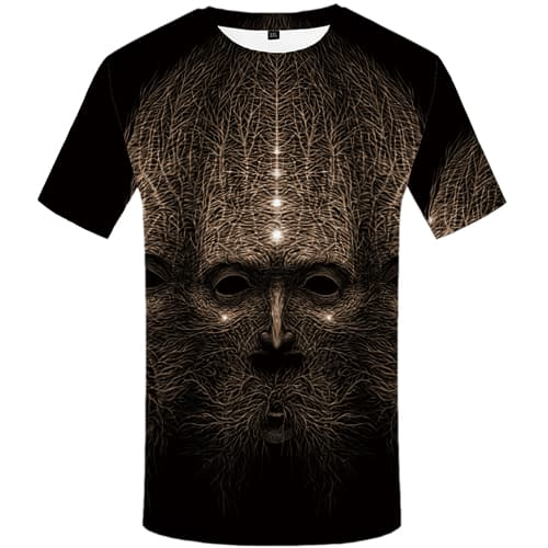 Tree T-shirt Men Skull Tshirts Cool Gray Tshirts Novelty Short Sleeve T shirts