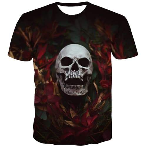 Skull T-shirt Men Terror T-shirts 3d Hip Hop Tshirt Anime Rock T shirts Funny Halloween Shirt Print Short Sleeve Hip hop Unisex - KYKU