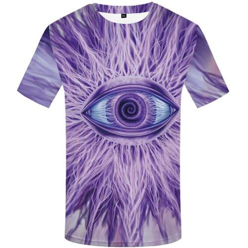 Eye T-shirt Men Lightning T-shirts 3d Psychedelic Shirt Print Punk Tshirt Anime Harajuku T shirts Funny Short Sleeve Hip hop - KYKU