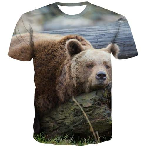 Bear T-shirt Men Animal Tshirts Cool Hip Hop Tshirts Casual Harajuku Tshirt Anime Leisure Tshirt Printed Short Sleeve summer