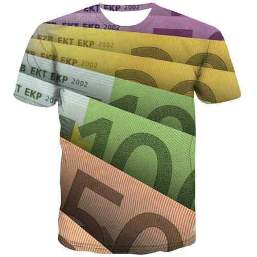 Money T-shirt Men Australian Dollar Tshirts Novelty Art Tshirt Anime Australia Tshirts Cool Harajuku Tshirt Printed Short Sleeve - KYKU