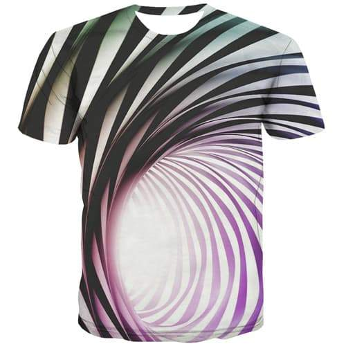 Psychedelic T shirts Men Dizziness T shirts Funny Black And White T-shirts 3d Vortex Tshirt Printed Gothic Tshirt Anime - KYKU