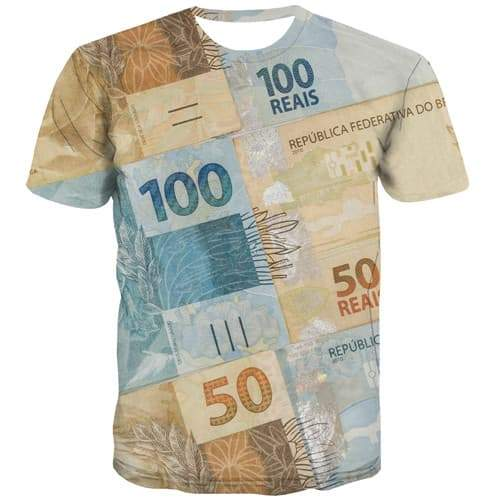 Money T shirts Men Flower T-shirts Graphic Russia Tshirts Cool Vintage Tshirts Casual Gothic Tshirts Novelty Short Sleeve - KYKU