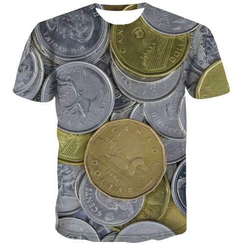 Money T shirts Men Canadian Dollar Tshirt Anime Canada T-shirts Graphic Metal Tshirts Casual Gothic Tshirts Cool Short Sleeve - KYKU