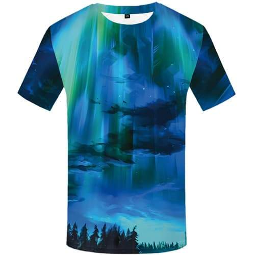 Aurora T-shirt Men Cartoon T-shirts Graphic Graffiti T shirts Funny Art T-shirts 3d Harajuku Shirt Print Short Sleeve summer - KYKU