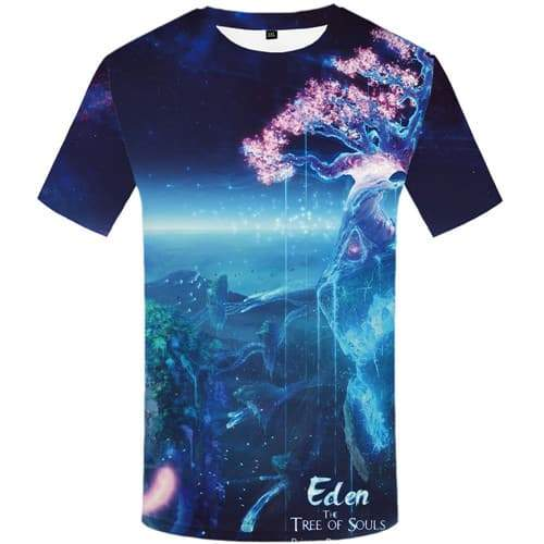 Deer T shirts Men Animal Tshirts Casual Tree Tshirt Printed Colorful Tshirt Anime Harajuku T shirts Funny Short Sleeve summer - KYKU