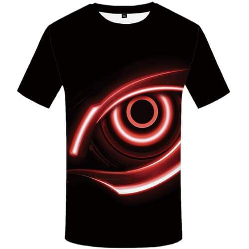 Eye T shirts Men Black Tshirts Casual Vortex T-shirts 3d Gothic Shirt Print Rock T shirts Funny Short Sleeve T shirts Men Tee - KYKU