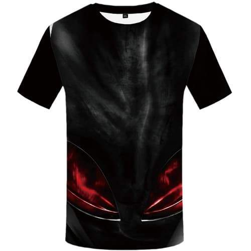 Alien T-shirt Men Metal Tshirt Printed Flame T-shirts Graphic Black Tshirt Anime Punk Tshirts Cool Short Sleeve Hip hop Unisex - KYKU