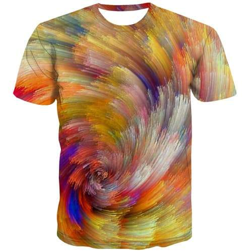 Painting T shirts Men Graffiti T-shirts Graphic Abstract Tshirts Casual Colorful T shirts Funny Harajuku T-shirts 3d