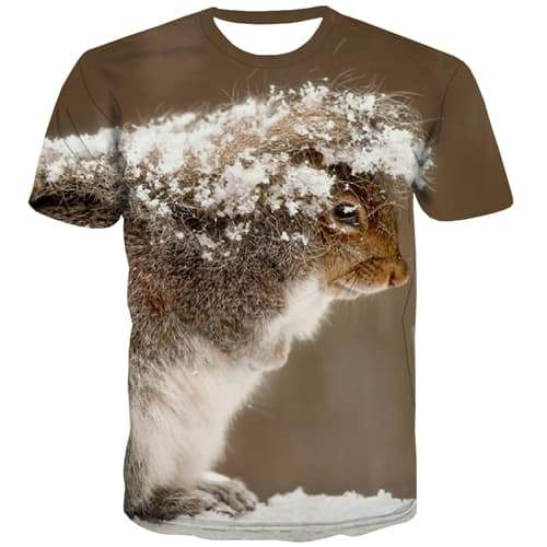 Animal T-shirt Men Mouse T shirts Funny Snowflake Tshirts Cool Harajuku Tshirts Casual Funny T-shirts Graphic Short Sleeve