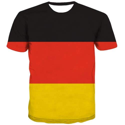 German Flag T shirts Men Germany Shirt Print Colorful Tshirts Cool Harajuku Tshirt Anime Gothic Tshirt Printed Short Sleeve - KYKU