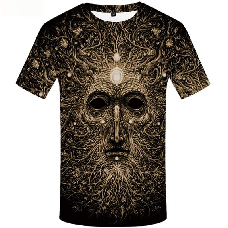 Tree T shirts Men Flower T-shirts 3d Gray Tshirt Anime Vintage T-shirts Graphic Short Sleeve Fashion Men New Slim Sport