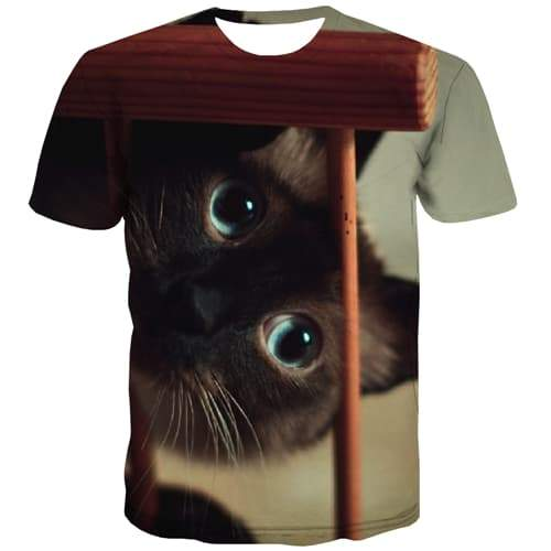 Animal T shirts Men Cat T-shirts Graphic Lovely T-shirts 3d Hip Hop T shirts Funny Street Tshirts Novelty Short Sleeve Hip hop