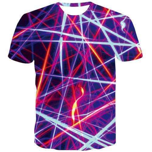 Psychedelic T shirts Men Graphic Tshirts Casual Line Tshirts Cool Purple T-shirts Graphic Stripe Tshirts Novelty Short Sleeve