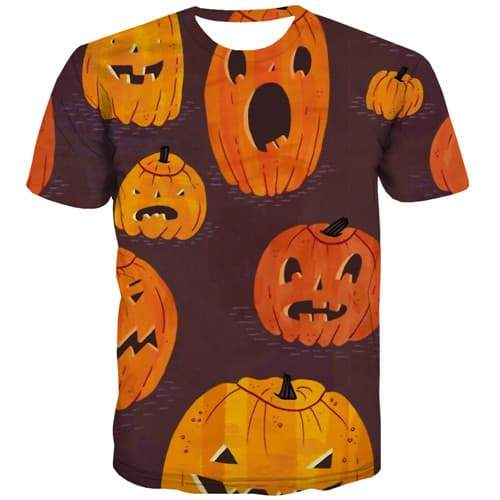 Pumpkin Halloween T shirts Men Cosplay Tshirts Casual Harajuku Shirt Print Party Tshirts Cool Gothic T shirts Funny Short Sleeve