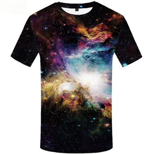 Galaxy T-shirt Men Colorful T-shirts 3d Cloud Tshirt Anime Space Tshirts Casual Short Sleeve summer Mens Tops Style Personality