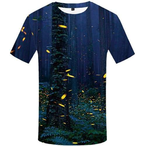 Forest T-shirt Men Harajuku T shirts Funny Tree T-shirts 3d Graffiti Shirt Print Short Sleeve Full Print Unisex Tops O-neck