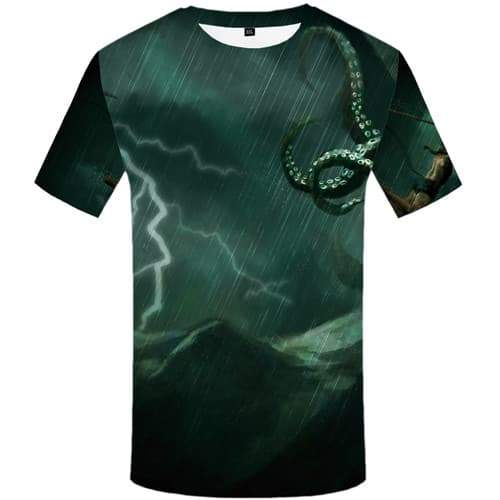 Venom T shirts Men Mountain T-shirts 3d Lightning Tshirts Casual Gothic Tshirts Novelty Vintage Tshirt Printed Short Sleeve - KYKU
