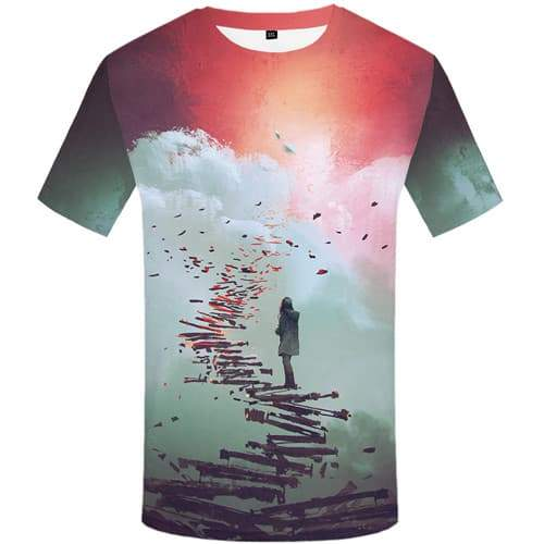 Graffiti T-shirt Men Art T-shirts 3d Abstract Tshirts Casual Painting Tshirt Printed Harajuku Shirt Print Short Sleeve T shirts - KYKU