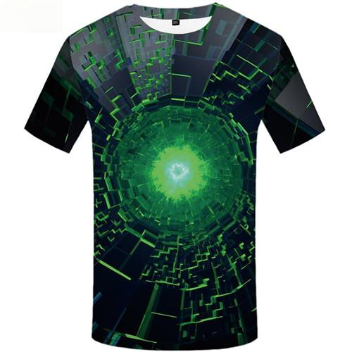 Psychedelic T-shirt Men Vortex Shirt Print Black Hole Tshirt Anime Space Tshirt Printed Short Sleeve Hip hop Unisex Tee Top Slim