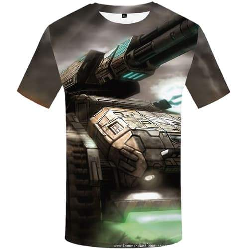 World Of Tanks T-shirt Men Military T shirts Funny Metal Tshirts Novelty War Shirt Print Game T-shirts Graphic Short Sleeve - KYKU