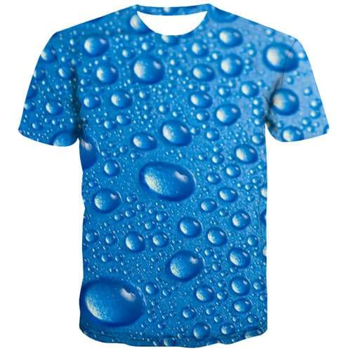 Water T-shirt Men Psychedelic Shirt Print Blue T-shirts 3d Gothic Tshirts Novelty Harajuku Tshirts Cool Short Sleeve Fashion - KYKU