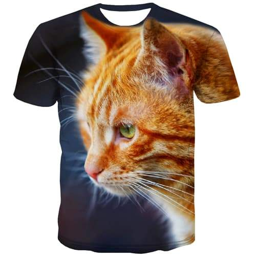 Cat T shirts Men Animal Shirt Print Lovely Tshirt Printed Funny Tshirts Casual Street Tshirts Cool Short Sleeve Punk Rock Unisex