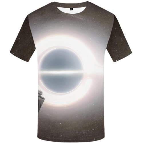 Galaxy T-shirt Men Space T-shirts 3d Black Hole Tshirt Anime Metal Shirt Print Harajuku Tshirt Printed Short Sleeve Full Print - KYKU