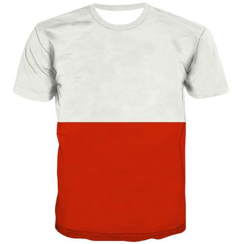 Polish Flag T-shirt Men Poland T-shirts 3d Harajuku Tshirts Cool White Shirt Print Gothic T shirts Funny Short Sleeve Fashion - KYKU