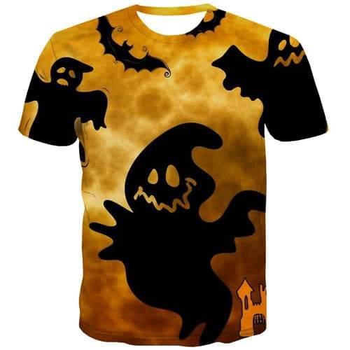 Halloween T shirts Men Witch T shirts Funny Cartoon T-shirts Graphic Black Tshirt Printed Harajuku T-shirts 3d Short Sleeve - KYKU
