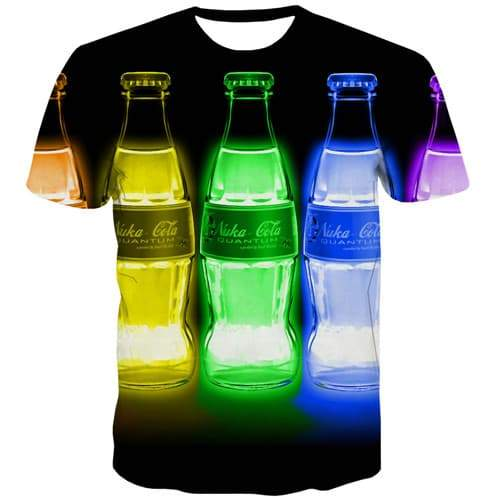 Beer T-shirt Men Metal Shirt Print Colorful Tshirts Casual Harajuku T shirts Funny Gothic Tshirt Printed Short Sleeve Fashion - KYKU