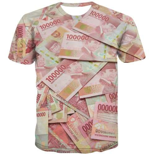 Money T-shirt Men Indonesian Shield Tshirts Cool Indonesia T-shirts Graphic Harajuku Tshirt Anime Gothic Tshirt Printed - KYKU