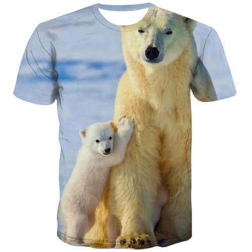Bear T-shirt Men Russia Tshirt Anime Lovely Tshirts Cool Cartoon T-shirts 3d Harajuku T shirts Funny Short Sleeve Punk Rock - KYKU