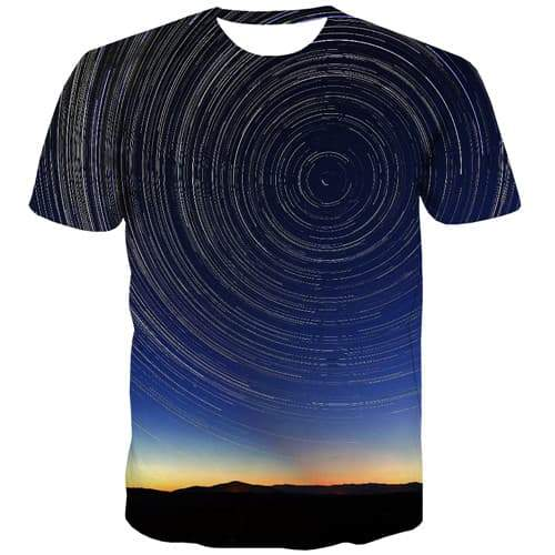 Dizziness T-shirt Men Galaxy Tshirts Cool Abstract T shirts Funny Harajuku Tshirts Novelty Gothic Tshirt Anime Short Sleeve - KYKU