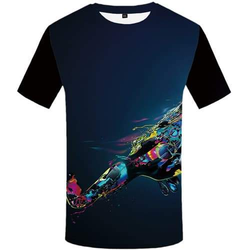 Galaxy Space T shirts Men Graffiti T shirts Funny Colorful T-shirts Graphic Harajuku T-shirts 3d Short Sleeve Hip hop Men women