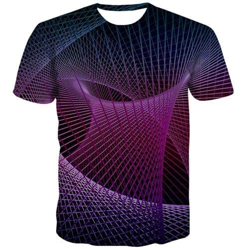 Dizziness T-shirt Men Geometric Tshirts Casual Psychedelic T shirts Funny Element Tshirt Anime Punk Rock Tshirt Printed - KYKU