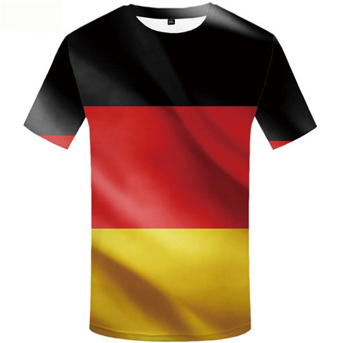 German Flag T-shirt Men Colorful Tshirt Anime Gothic Tshirts Novelty Short Sleeve summer Men/women Tops Streetwear Personality
