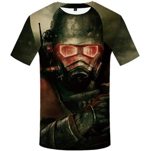 Gun T shirts Men Military T shirts Funny Metal Tshirts Cool War T-shirts 3d Cosplay Tshirts Novelty Short Sleeve summer Men