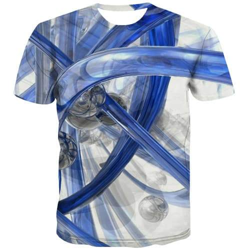 Psychedelic T-shirt Men Harajuku T-shirts Graphic White Tshirt Anime Abstract Tshirt Printed Gothic T-shirts 3d Short Sleeve - KYKU