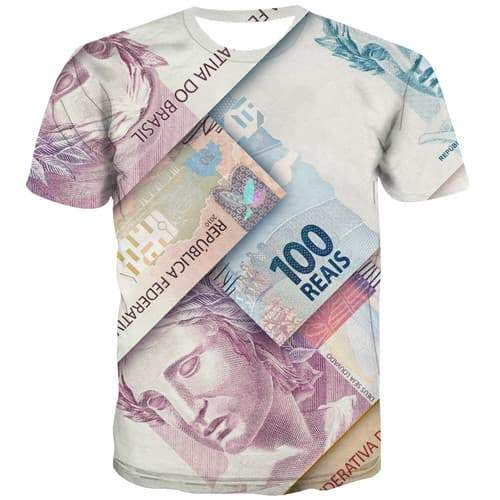 Money T shirts Men Geometric Tshirts Casual Art T-shirts 3d Harajuku T-shirts Graphic Gothic Tshirt Anime Short Sleeve Hip hop - KYKU