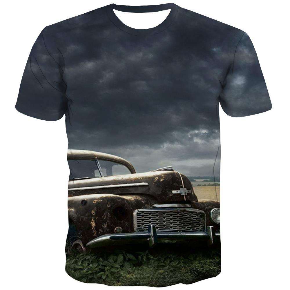 Racing Car T shirts Men Metal Tshirt Anime City Tshirts Cool Gray Tshirts Casual Retro Tshirts Novelty