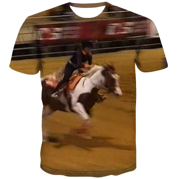 Borse T-shirt Men Competition T shirts Funny Raced Tshirts Novelty Equestrian T-shirts Graphic