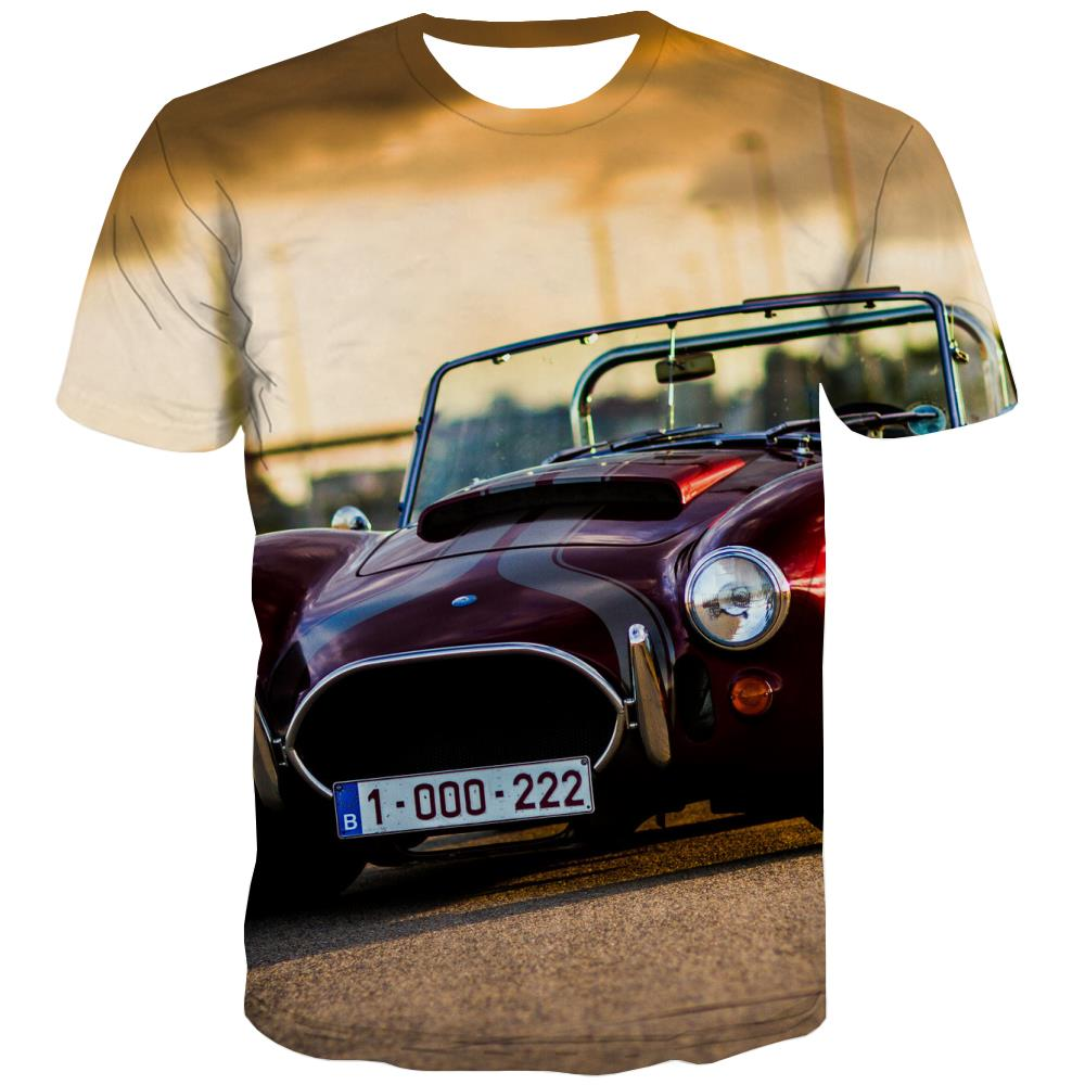 Racing Car T-shirt Men Metal Tshirts Casual City Tshirts Novelty Gray Tshirt Printed Retro T-shirts Graphic
