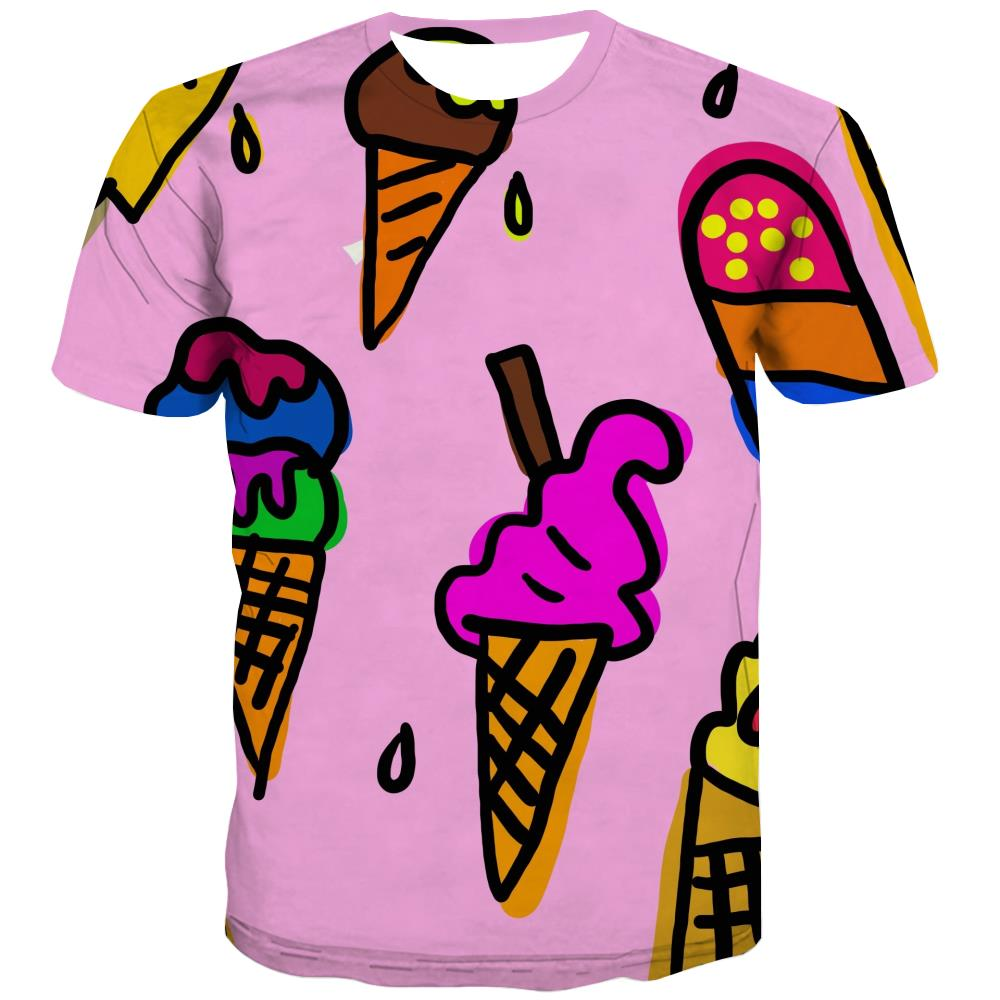 Sweet T-shirt Men Gourmet T shirts Funny Icecream Tshirts Cool Colourful Shirt Print