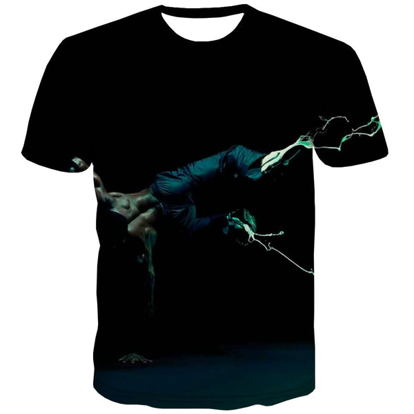 Music T-shirt Men Instrument T-shirts 3d Retro T shirts Funny Electronic Tshirts Casual