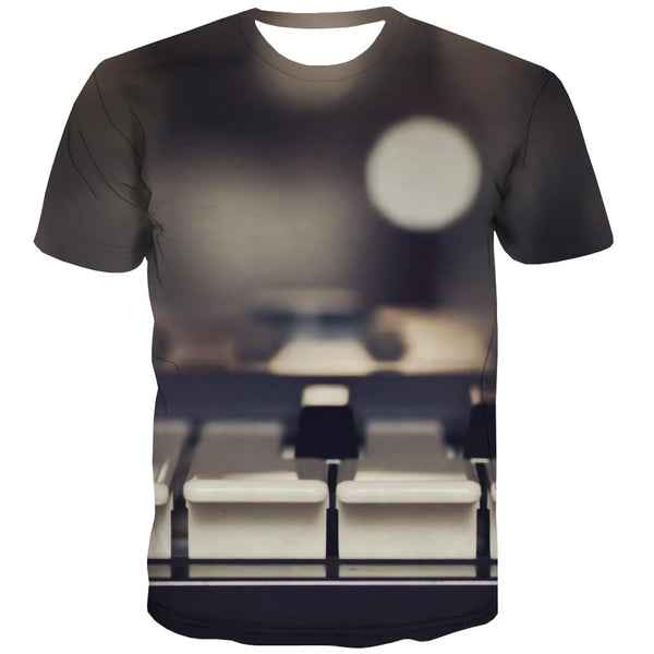 Music T shirts Men Instrument T-shirts Graphic Retro Tshirt Printed Electronic Tshirts Novelty